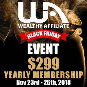 Wealthy Affiliate for Black Friday